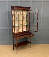 Inlaid Mahogany Display Cabinet by Shapland and Petter (12 of 21)