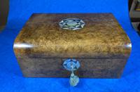 Victorian Walnut Jewellery Box with Inlay (2 of 15)