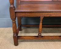 Late 19th Century Carved Oak Bench (8 of 12)