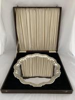 Large 893g Antique Silver Drinks Tray or Salver 1933 Birmingham Presentation Box (6 of 10)
