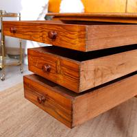 Walnut Chest of Drawers Victorian Side Cabinet 19th Century (2 of 11)