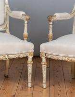 19th Century French Painted And Parcel-Gilt Upholstered Salon Suite (9 of 15)