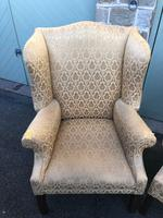 Pair of Antique English Upholstered Wing Armchairs for Recovering (8 of 12)