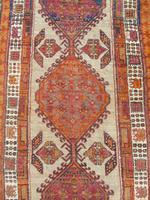Antique Sarab Carpet Runner Rare Colours (7 of 9)
