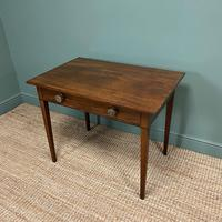 Fine Country Georgian Mahogany Antique Side / Writing Table (4 of 6)