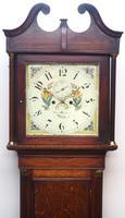 18th Century Longcase Clock Fine Welsh Oak Bala Grandfather Clock Painted Dial c.1844 (2 of 13)