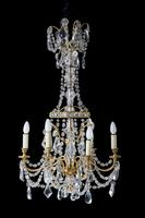 Early 20th Century Six Arm Chandelier (5 of 9)