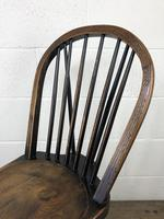 Set of Four 19th Century Ash and Elm Hoop Back Chairs (8 of 13)