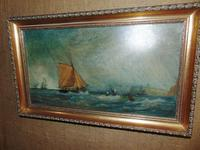 Oil on Canvas 'Storm off Whitby' by Fielding (2 of 6)
