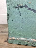 Antique Green Painted Wooden Trunk or Box (9 of 10)