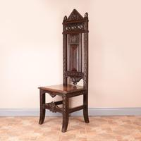 Carved Oak High Backed Side Chair (3 of 9)