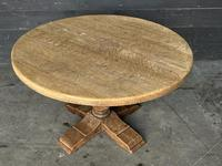 French Round Bleached Oak Farmhouse Dining Table (13 of 19)