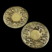 Magnificent Georgian Pair of Solid Silver Gilt Charger / Platter Dishes - George Burrows 1824 (13 of 27)