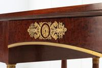 19th Century French Plum Pudding Mahogany Bureau Plat (8 of 11)