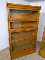 Set of Four Oak Globe Wernicke Bookcases (10 of 11)