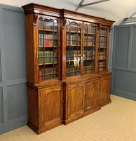 William IV Mahogany Breakfront Bookcase (13 of 15)