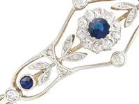0.23ct Sapphire & 0.43ct Diamond, 18ct Yellow Gold Bracelet - Antique c.1920 (3 of 12)