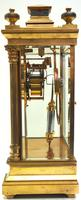 Antique French Table Regulator with Compensating Pendulum 8 Day 4 Glass Mantel Clock (10 of 12)