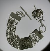 Silver T-bar Pocket Watch Chain