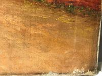 Victorian Oil Painting Shepherd & Flock Of Sheep Circa 1891 (10 of 13)