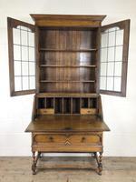 Early 20th Century Antique Oak Bureau Bookcase (11 of 17)