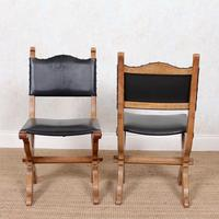 6 Oak Gothic Dining Chairs Carved (14 of 14)