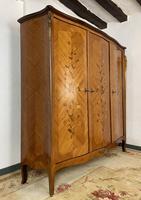 French Kingwood Floral Marquetry Armoire Ormolu Mounts Breakdown 3 Door Wardrobe (5 of 11)