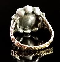 Antique Georgian Pink Topaz Cluster Ring, 18ct Gold, Foiled Paste (6 of 12)