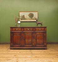Solid Georgian Style Oak Dresser Base Sideboard by Titchmarsh & Goodwin (17 of 22)