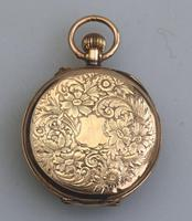 Antique Ladies 9ct Solid Gold Cased Fob Watch & Travelling Watch Holder c.1909 (4 of 7)