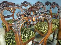 12 Walnut Irish Dining Chairs (7 of 7)