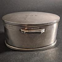George V Silver Oval Box (4 of 5)