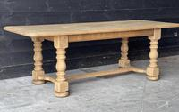 French Bleached Oak Refectory Farmhouse Dining Table (10 of 26)