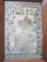 Rare & Fine Embroidery Silk Textile Scottish Castle Sampler c.1841 (4 of 9)