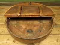 Antique Carved Indian Chakki Table Coffee Table with Lid (5 of 14)