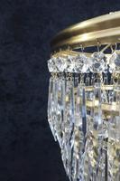Italian Art Deco Five Tier Crystal Glass Chandelier (5 of 7)