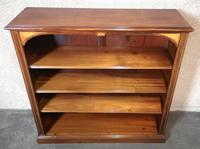 Edwardian Inlaid Mahogany Open Bookcase (7 of 10)