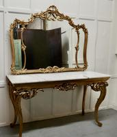 19th Century French Marble Top Gilt Centre Table & Matching Wall Mirror (11 of 11)