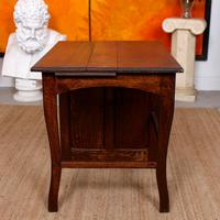 Carved Oak Desk French Writing Table Golden (12 of 15)