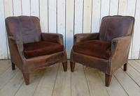 Pair of Antique French Leather Club Chairs (11 of 14)