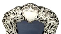 Antique Victorian Sterling Silver 'Cherubs' Photo Frame 1894 (3 of 10)