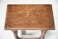 Charles II Style Oak Joint Stool (8 of 12)