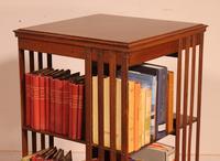 English Revolving Bookcase in Mahogany & Inlays (3 of 10)