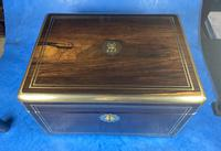 Georgian  Rosewood Brassbound Vanity Box (9 of 34)