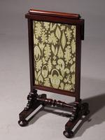 Early Victorian Fire Screen with Movable Sections