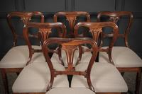 Set of 6 Rosewood Kidney Back Dining Chairs (4 of 14)