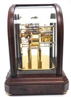 Wow! Franz Hermle & Sohne Musical Bell Chiming Mahogany & Glass Mantel Clock (10 of 13)