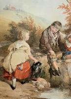 John Henry Mole Exhibition Quality Regency Period Watercolour Painting (5 of 13)