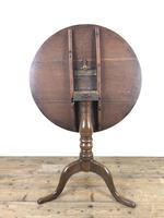 19th Century Oak Circular Tilt Top Tripod Table (10 of 12)