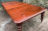 Very Large Victorian Mahogany Extending Dining Table (3 of 16)